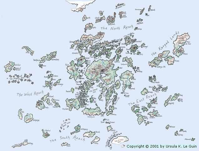 Tales from Earthsea map