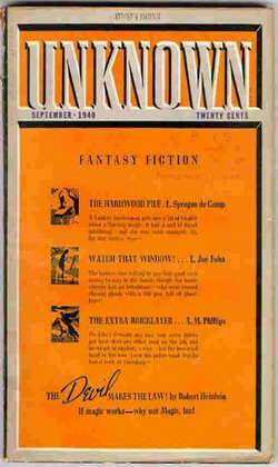 Unknown Fantasy Fiction September 1940